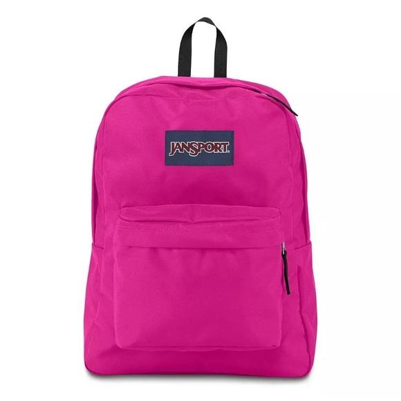 8dd5ac5d654c JanSport SuperBreak Backpack -Cyber Pink